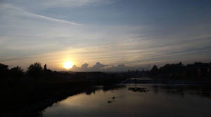 Sunset River Exe May 2020