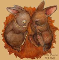 Sleeping Bunnies by Amarathimi