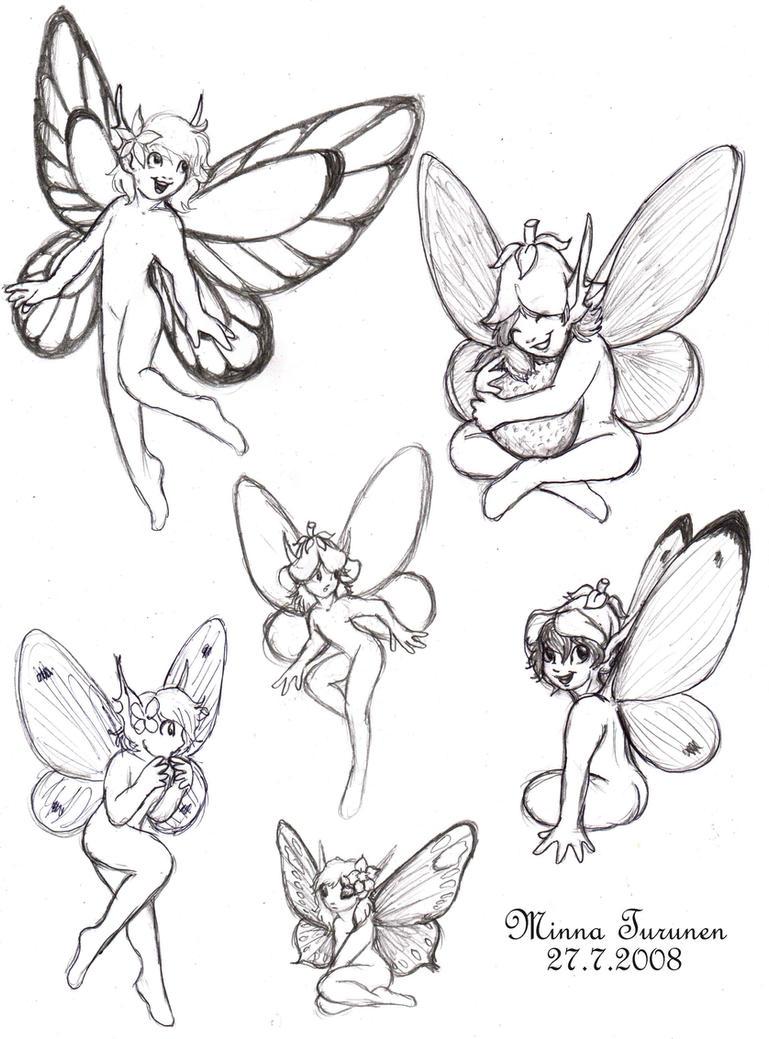 Fairy sketches by amarathimi on deviantart
