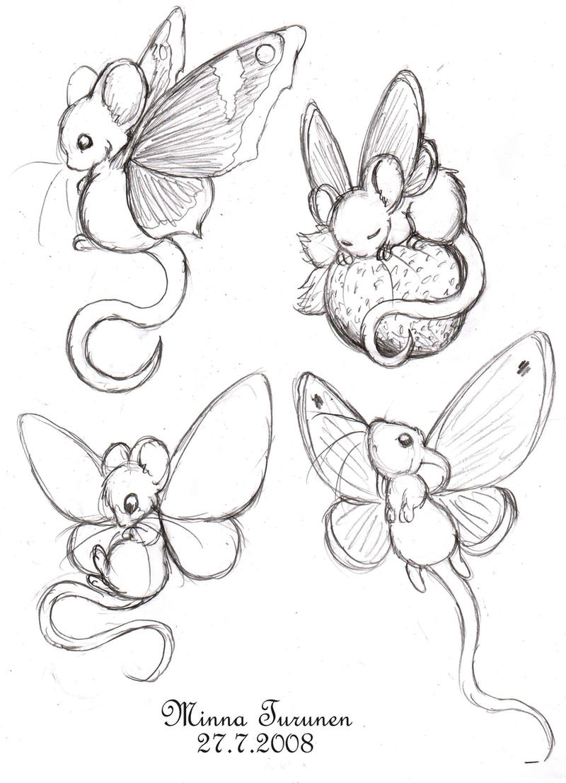 Fairy-mouse sketches by Amarathimi on DeviantArt