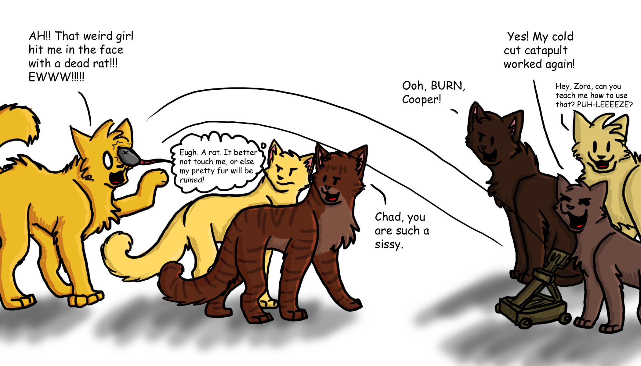 If they were cats... 4 by GingerFlight on DeviantArt