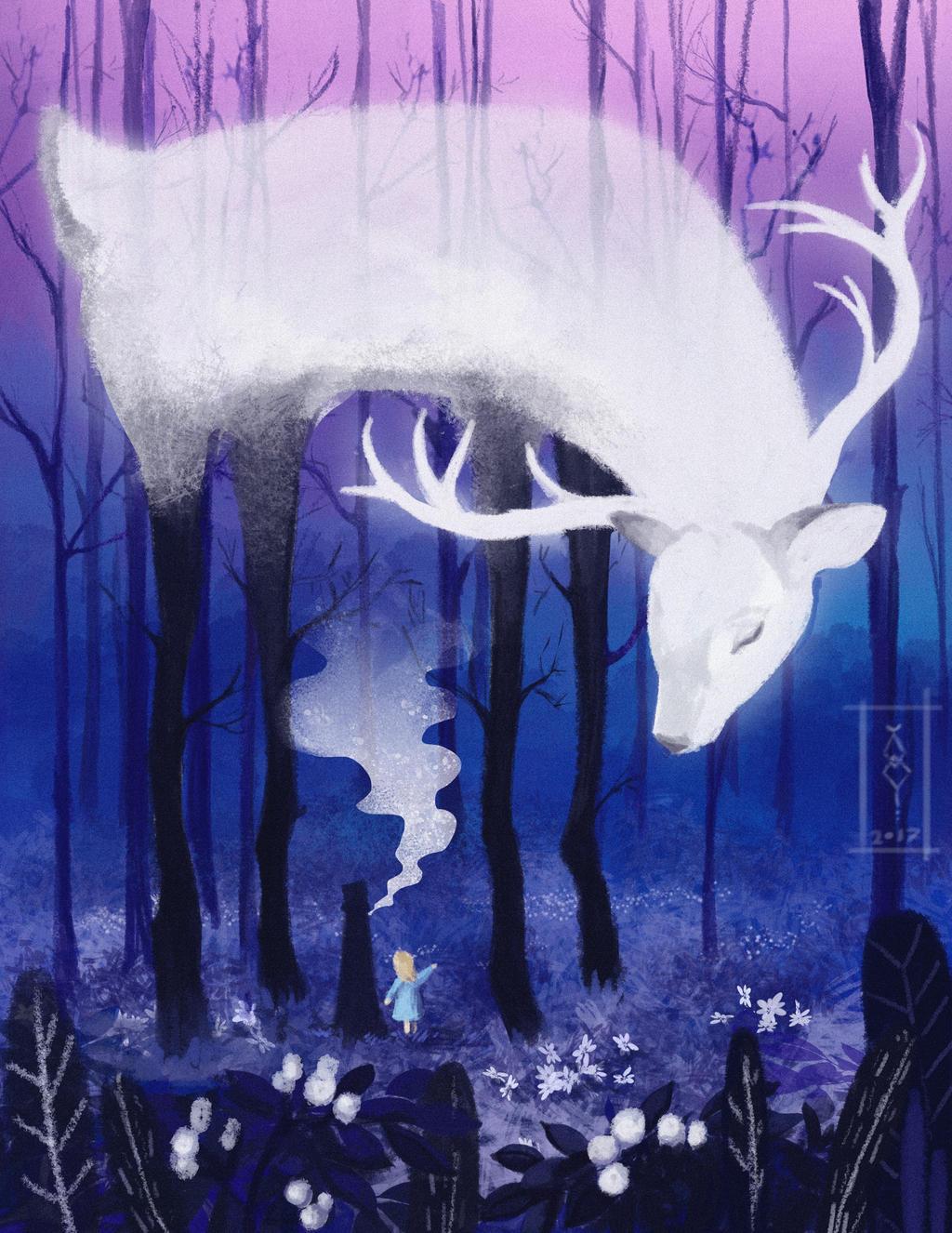 Magic deer by Dameo-in