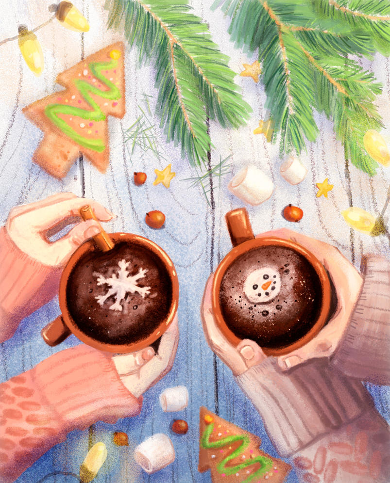 Hot chocolate by Dameo-in