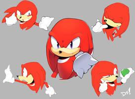 Knuckles Expressions by DreddStar