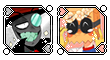 Black Hat and Dr. Flug [icons] by honkii