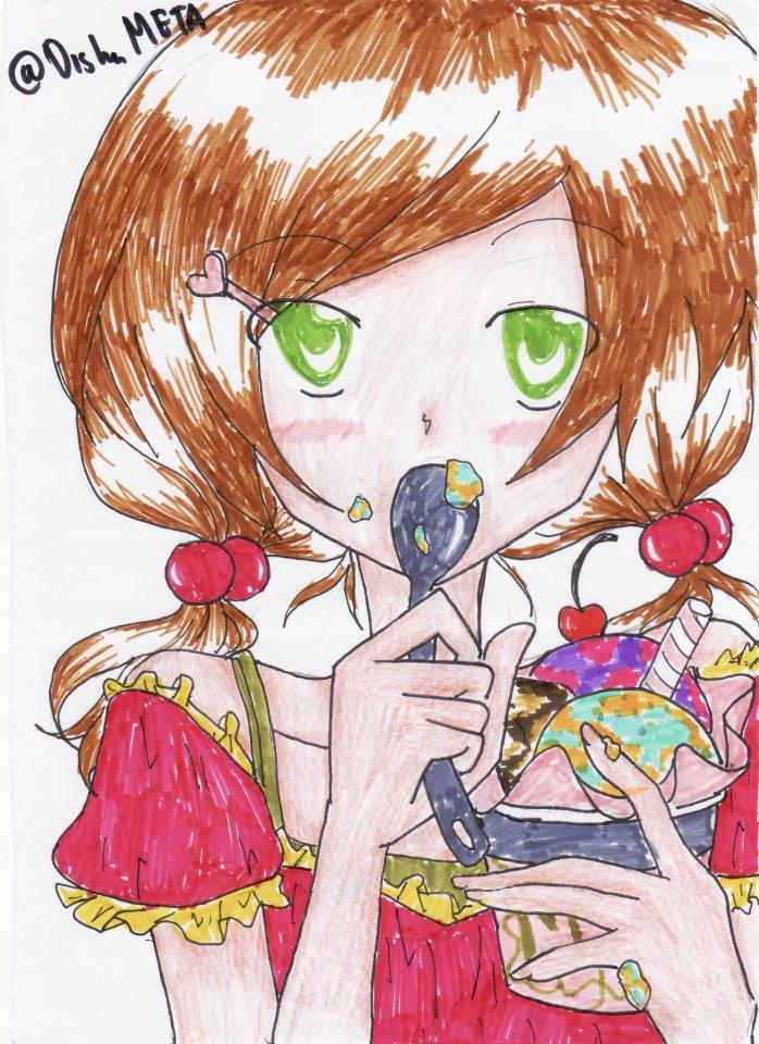 Anime girl eat ice cream by yukinahihara on deviantart - Ice cream anime girl ...