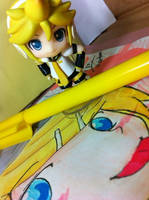 len draw rin by YukinaHihara
