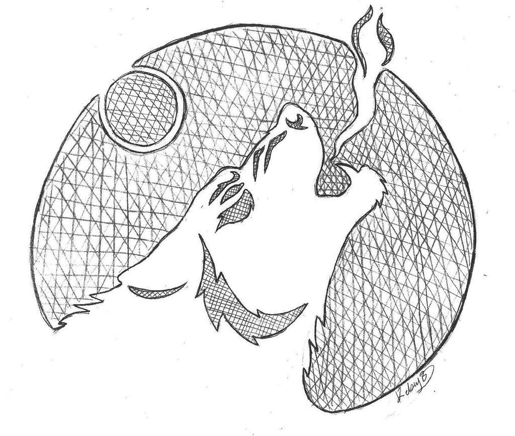 Werewolf howl pumpkin stencil by siosin on deviantart