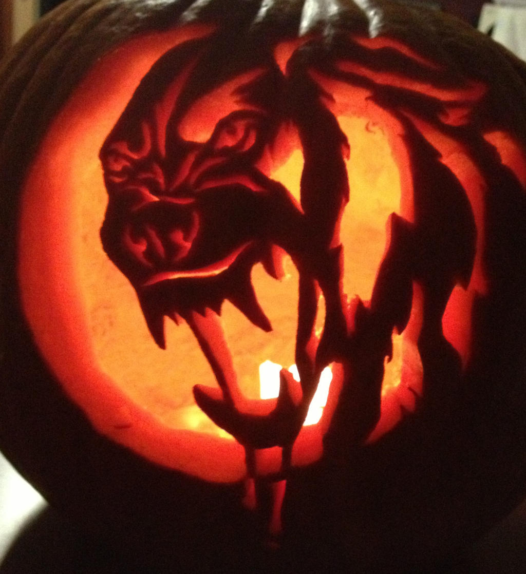 my werewolf pumpkin by siosin on deviantart