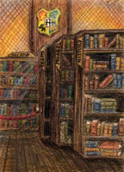 112 - ACEO / KAKAO - Hogwarts Library