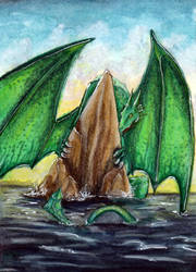 109 - ACEO / KAKAO - Water emerald by malloth86