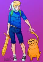 Finn and Jake by No-Nami