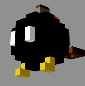 bob bomb 3d pixelart by pixelz3d on deviantart. Black Bedroom Furniture Sets. Home Design Ideas