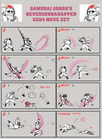 Samurai Goroh- SSB4 Move Set by LobsterVendetta