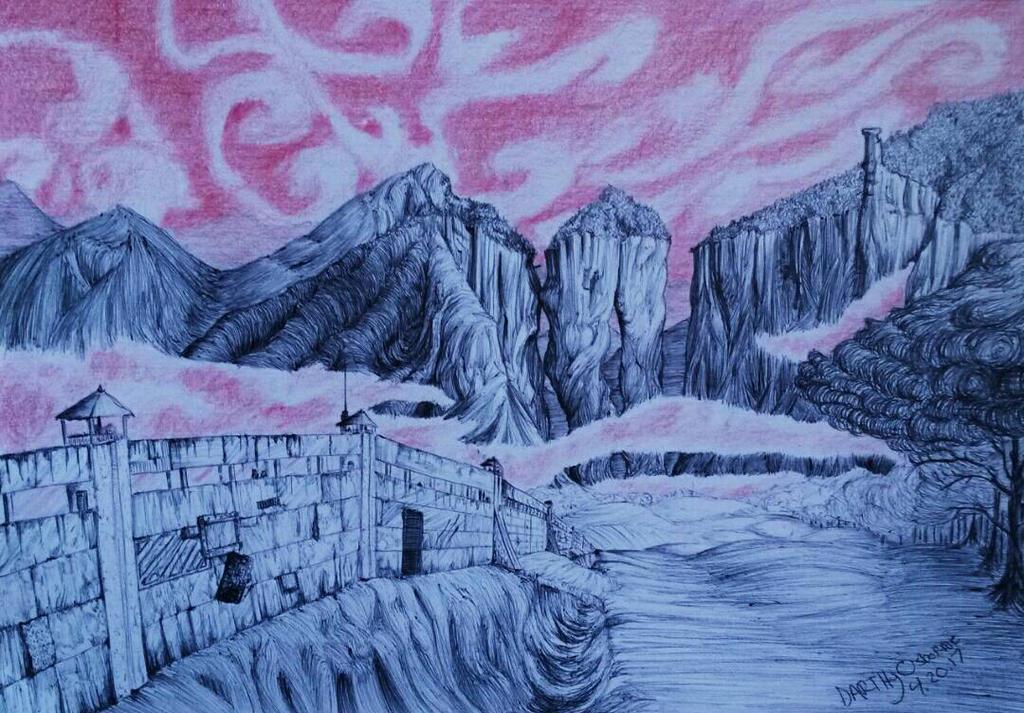 Sci-fi Wall by DarkMageComet