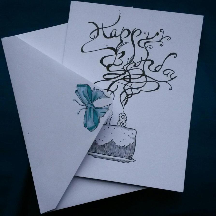 Birthday Card Design by DarkMageComet