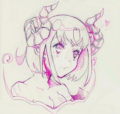 Succubus sketch by MikuhimeSeika