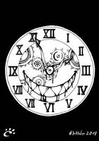 #Inktober2018 Drawing 14 - Monstrous CLOCK by TrickyPhantom