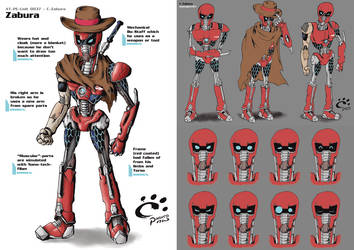 C-Zabura: Concept Art Sheet - 01 by TrickyPhantom