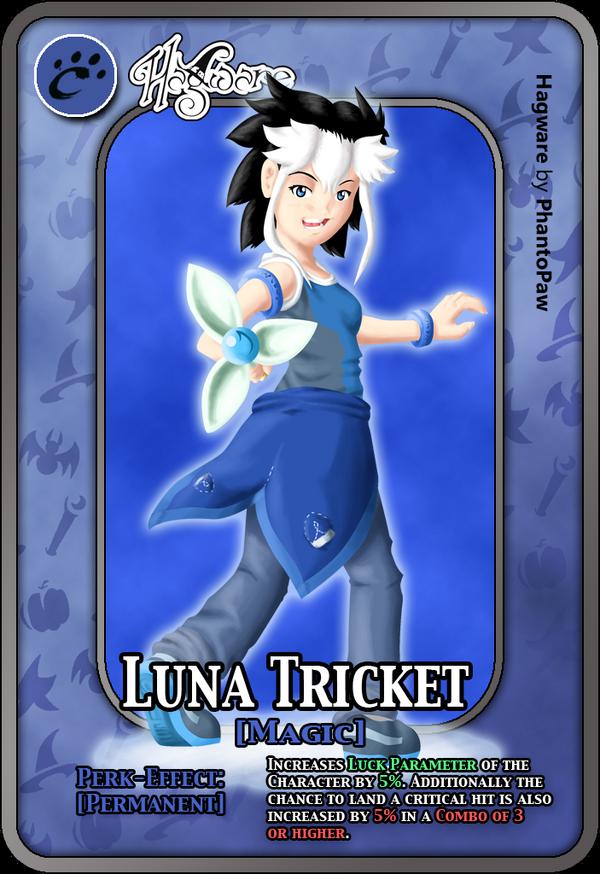 Luna Tricket [Cross-X-Mics] - Perk Card by TrickyPhantom