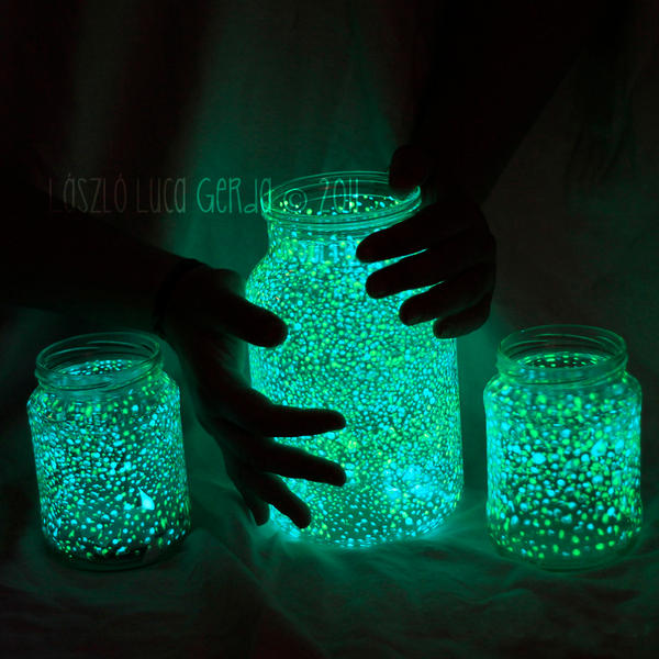 Glow in the Dark Mason Jars Crafts