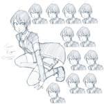 Chouko Kazemi + expressions.