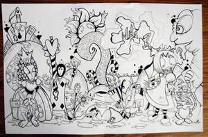 Alice in Wonderland Mural by Snowtraz
