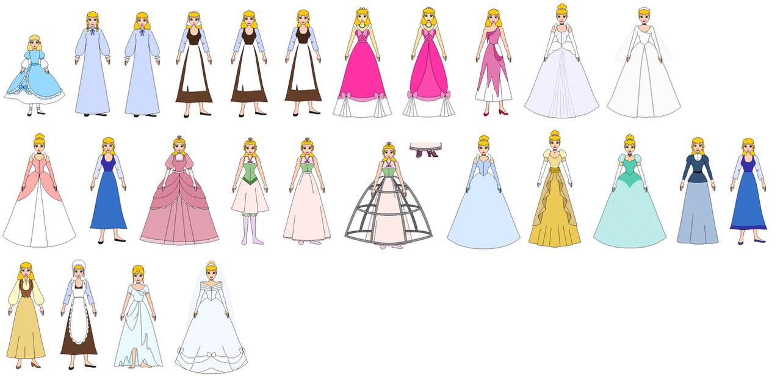 Cinderela All Dress By PPsantos1989 On DeviantArt
