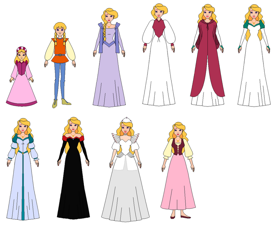 Princess Odette And All Dresses By Ppsantos1989 On Deviantart
