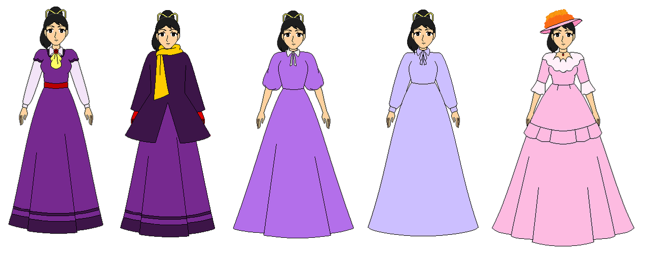 Meg in all dress from little women anime 1980 by ppsantos1989 on