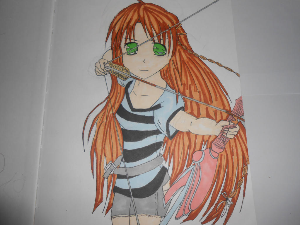 girl with bow and arrow by pokemon38 on DeviantArt