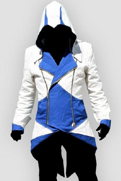 Assassin's Creed III Blue Jacket Hoodie by cosplaysky123