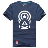 Captain America A logo short sleeve t shirt by cosplaysky123