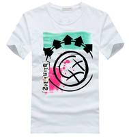 Blink 182 special design logo short sleeve t shirt by cosplaysky123