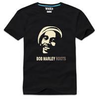 Bob Marley Wearing headphones Roots t shirt by cosplaysky123