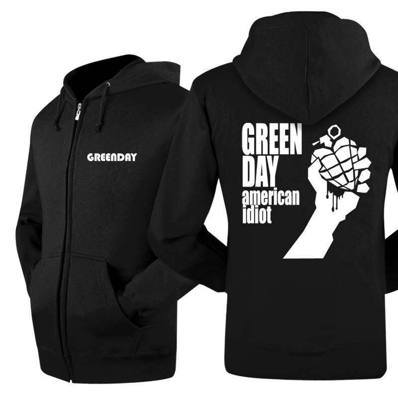 Green Day classical logo new jacket zip-up hoodie by cosplaysky123 ...