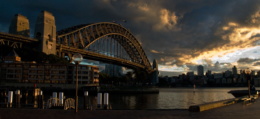 sydney harbour bridge by glasseye1