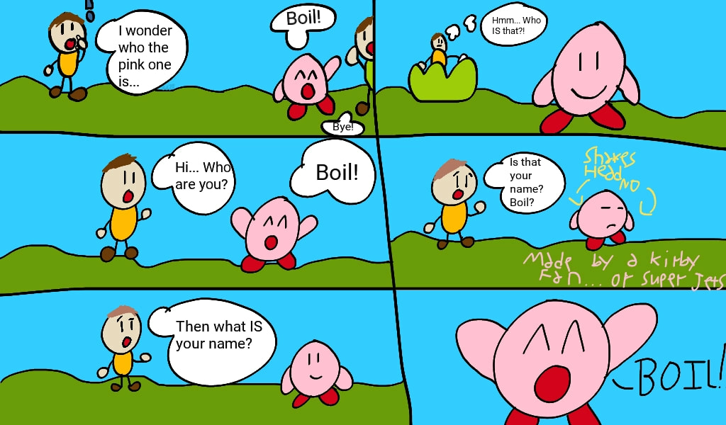 Kirby Comic called Boil Name (or BN) by SuperJets