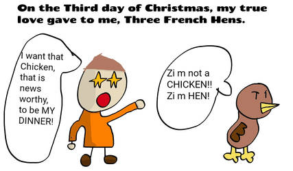 Three French Hens Comic by SuperJets