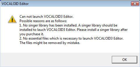 HELP VOCALOID 3 EDITOR CANNOT OPEN