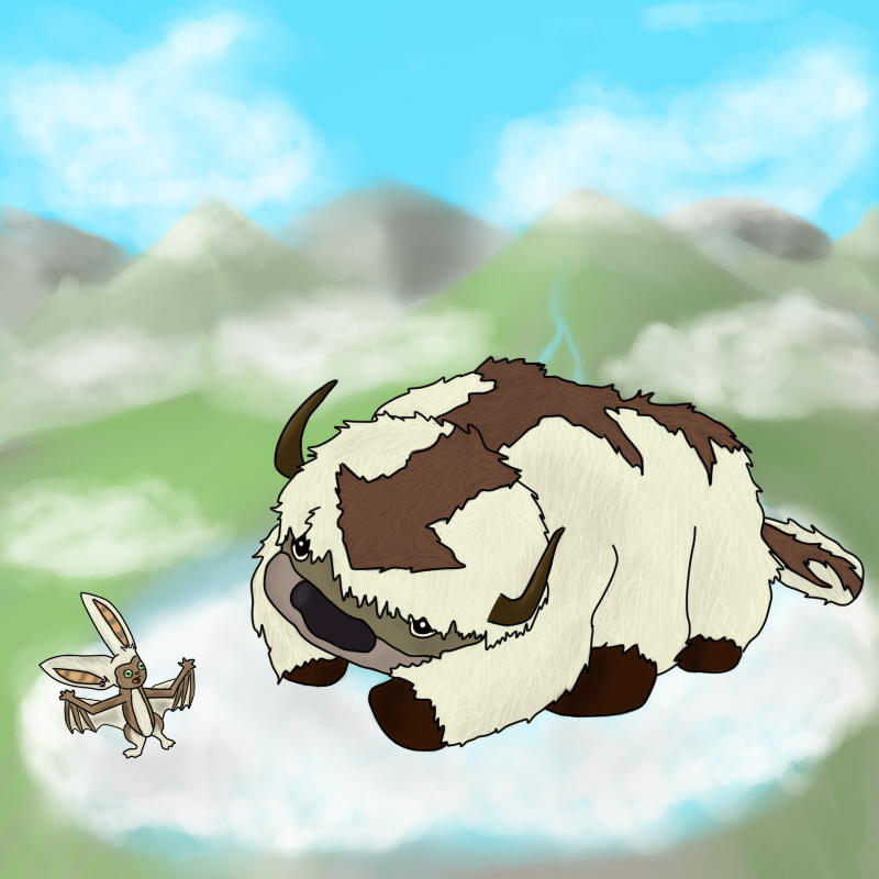 The Last Airbender Movie Appa: Appa And Momo By Tacoroach On DeviantArt