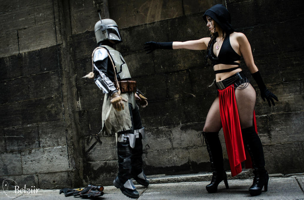 Lady Sith Force Choke a Mandalorian by Moscou