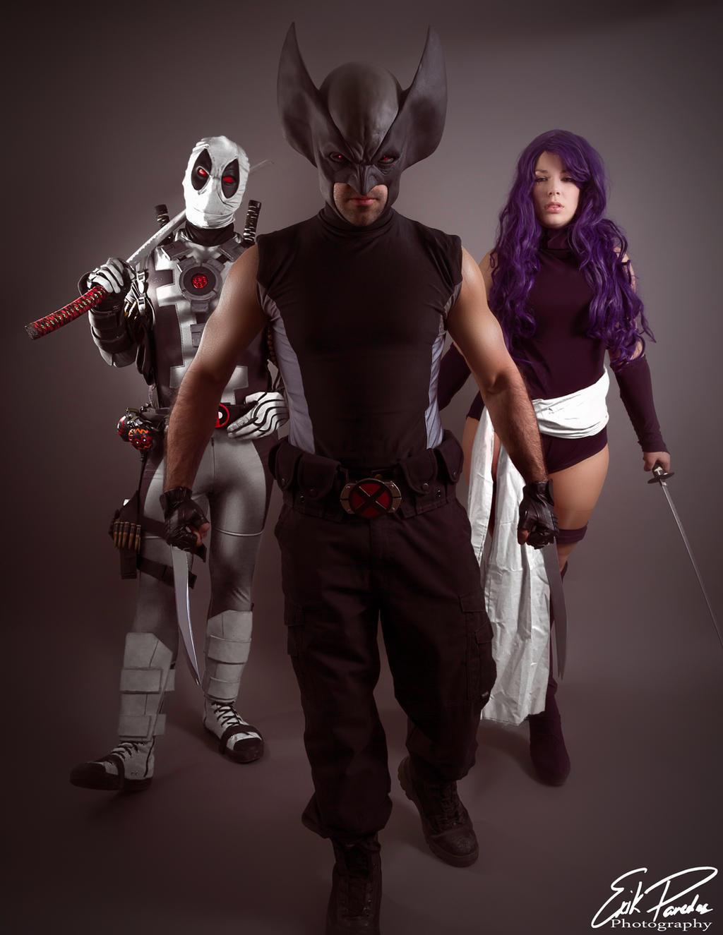 Psylocke Deadpool X-Force Cosplay (Wolve...