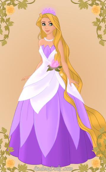 Rapunzel As Tiana By MidnightRoses888
