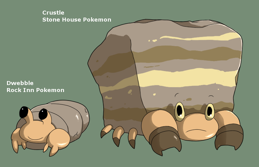 Pokemon Crustle Evolution Dwebble Evolution by M...
