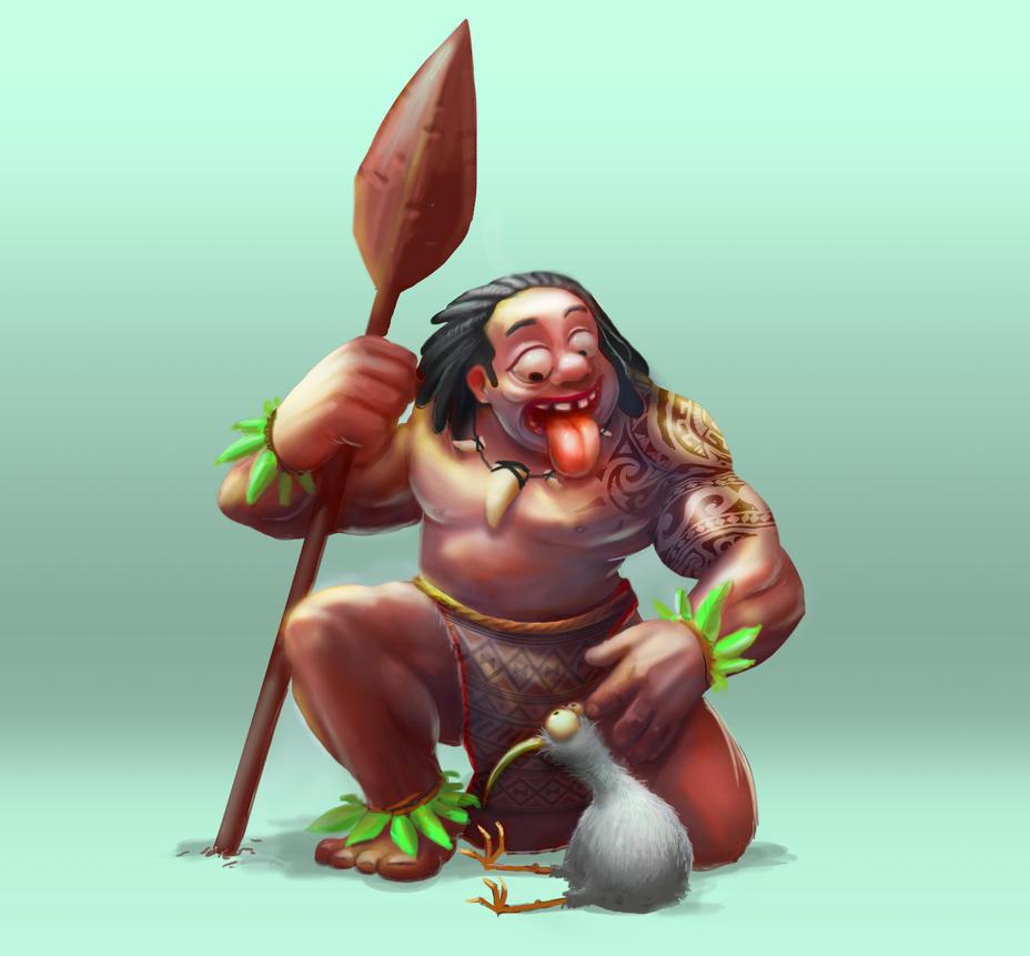 Crazy Maori Warrior by budilnik