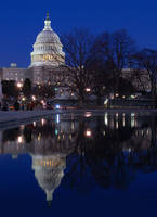 US Capitol Reflection by E-Davila-Photography