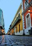 Calle Fortaleza at dusk