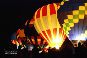Balloon's Night Glow II by E-Davila-Photography