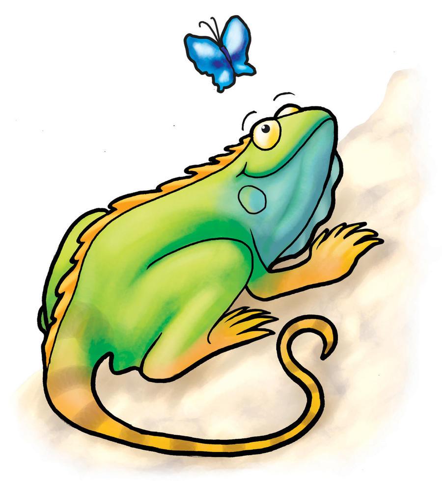 Iguana dibujos animados - Imagui